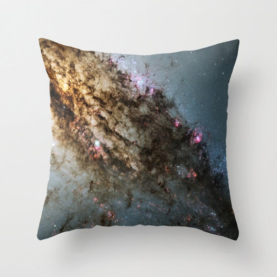Star Formation Throw Pillow, Office, Dorm, Space Decorative Pillow, Nature Cushion, Black Pillow, Steam-punk, Stars Pillow, Planets, Goth