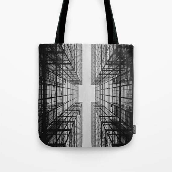 Abstract Tote Bag, Black Tote, Grey, Dorm, Noir, Office, Shopping, Industrial, Shoulder Bag, Surf, Beach Tote, Party Tote, City Urban Tote