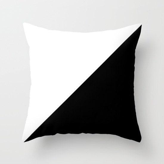 Black White Throw Pillow Decorative Pillow Cover Black White