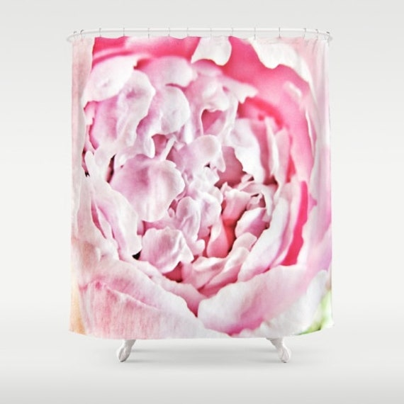 Pink Peony Shower Curtain, Flower Bathroom, petals, Floral, Blossom Shower Curtain, Nature Home Decor, Whimsical, Surf, Holiday, hotel