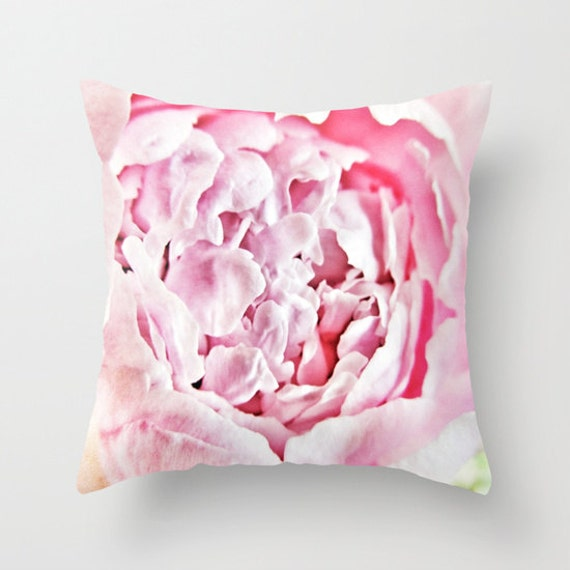 Peony Throw Pillow, Pink Decorative Pillow, Cover, Cushion, Wedding Gift, Flower Pillow, Petals Pillow, Nature, Floral, Pretty, Office, Dorm
