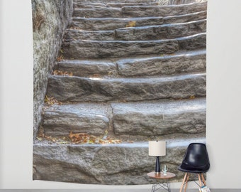 STONE STEPS in Central Park, New York, Wall Tapestry, Large Wall Art, Dreamy, Rustic, Fine Art Photography, Office, Home, Wedding, Dorm