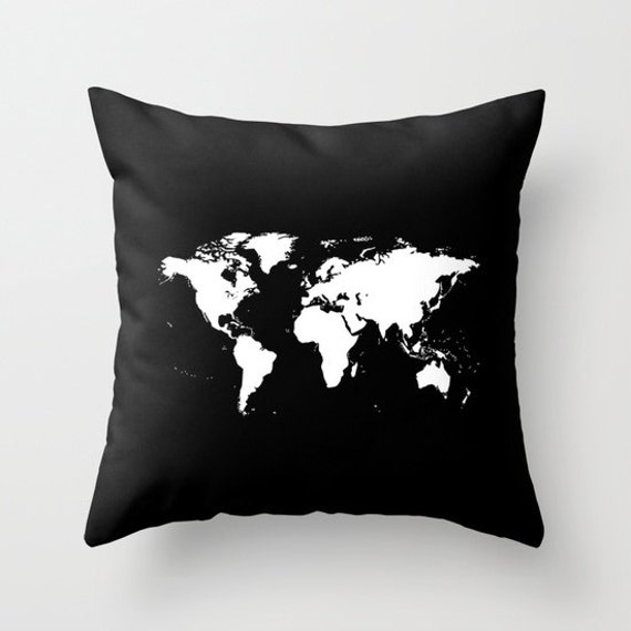 World map pillow cover world map home decor interior design etsy image 0 gumiabroncs Choice Image