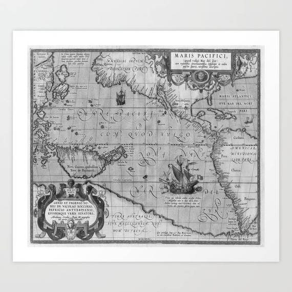 Old World Map print from 1589 Giclée Fine Art Print, Antique World Map Art Print, Geography, Vintage World Map, Dorm, Home Decor, Office Art