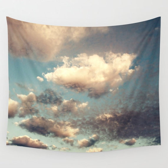 Cloud Tapestry, Cloudy Sky Tapestry, Clouds Large Wall Decor, Photo, Dorm, Office, Modern, Wall Hanging, Nature Tapestries, Cloud Formation