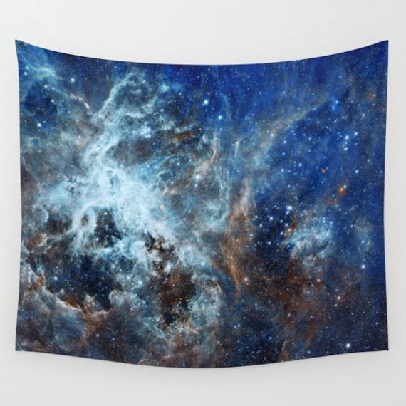 Tarantula Nebula Wall Art, Office, Space Tapestry, Stars, Planets, Navy Blue Wall Art, Nature, Space Home Interior, Starry Night, Dorm