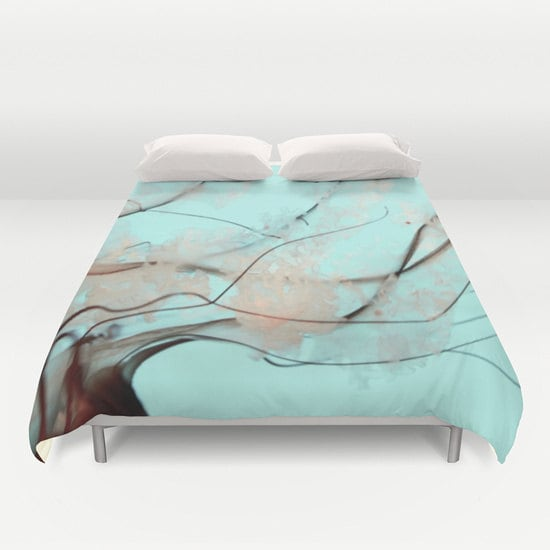 Ocean Blue Bedroom Wall: Jellyfish Duvet Cover, Ocean Blue Decorative Bedding