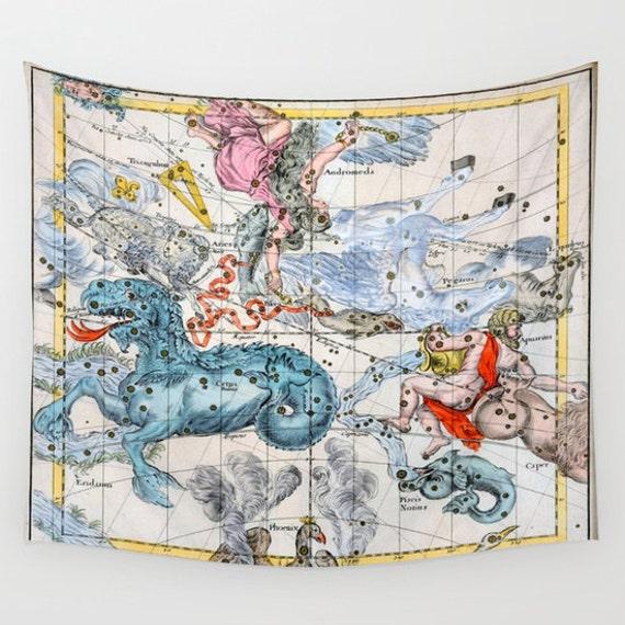 Celestial Map Tapestry, Vintage Star Map Large Size Wall Art, Astronomy, Office Decor, Zodiac Star,Dorm, Astrology,Star Sign,Horoscope,hotel