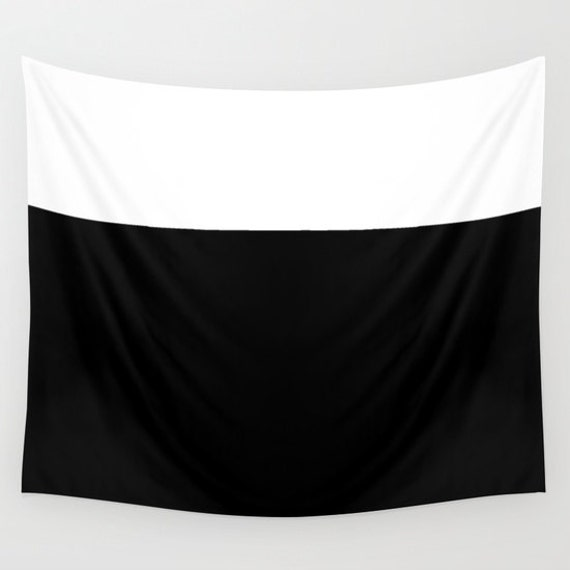 COLOR Block Large Wall Tapestry, Black White Tapestry, Contemporary, Office, Indoor, Outdoor, Home, Privacy screen,Dorm Decor,Modern Decor