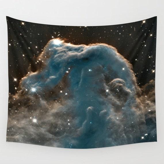 Horsehead Nebula Wall Art Tapestry, Space Tapestry, Stars, Planets, Barnard 33 Tapestry, Nature, Nebula, Sparkle, Office, Milky Way, Dorm