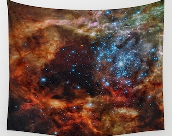 Star Clusters Wall Art Tapestry, Space Tapestry, Stars, Planets, Space Wall Art, Stars, Office, Nature, Nebula, Sparkle Tapestry, Dorm
