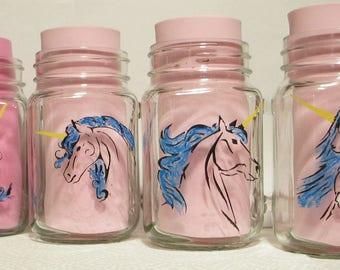 Hand painted unicorn mugs - set of 4