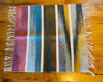 Oaxaca, Mexico Hand-woven Wool Rug with Natural Dyes