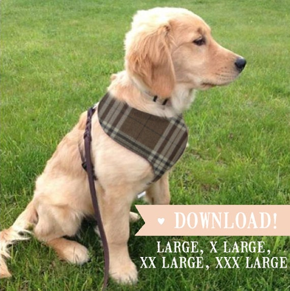 Diy Dog Harness Large Breed Sewing Pattern Full Etsy