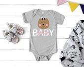 Baby Bear Onesie® - Cute Bear Onesie - Hipster Baby Bodysuit -  kids apparel - bear onsie - Baby Gift - Baby Bear Mama Bear - Baby Girl Gift
