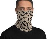 Neck Gaiter for Men and Women | Black Crow Neck Gator | Face Mask | Headband | Bird Face Mask