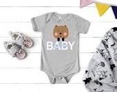 Baby Bear Onesie® - Cute Bear Onesie - Hipster Baby Bodysuit - kids apparel - bear onsie - Baby Gift - Baby Bear Mama Bear - Baby boy Gift