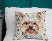 Premium Yorkie Throw Pillow | Yorkshire Terrier Pillow | Decorative Yorkie Pillow | Yorkie Throw Pillow