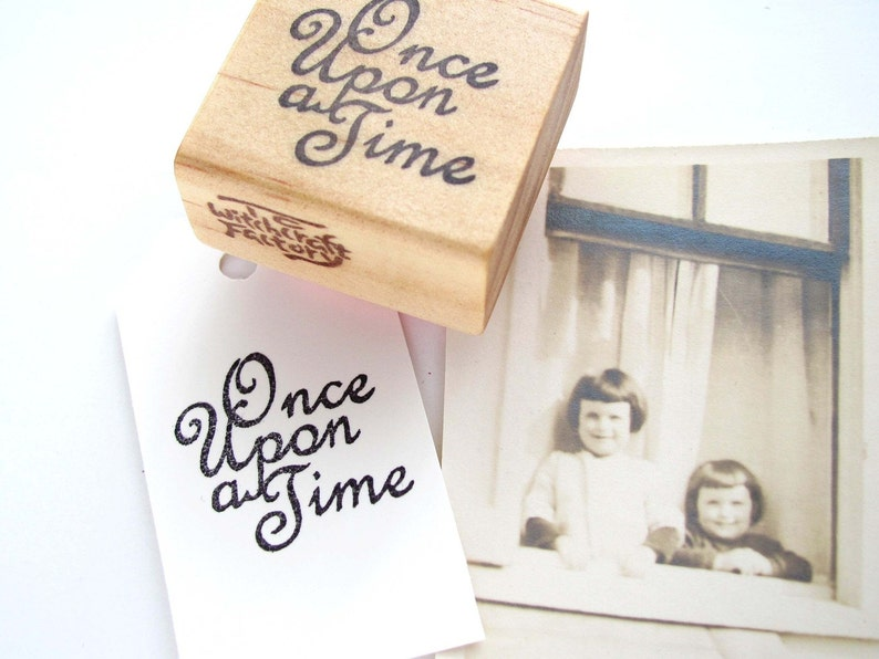 Once Upon a Time Hand Carved Stamp image 0