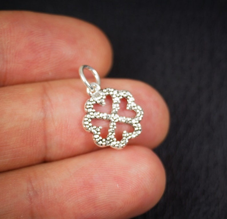 600-023SS Clover Charm Sterling Silver-