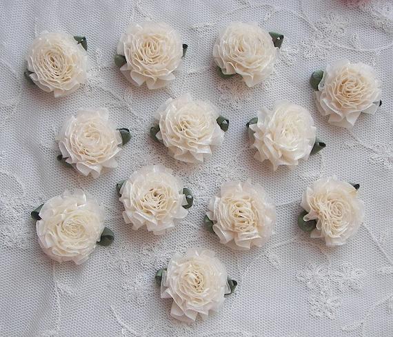 BRIDAL CRAFTS trimm ribbon Applique scrapbooking flowers wedding invitations