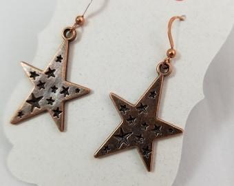 Stars in Your Eyes Copper fun Earrings