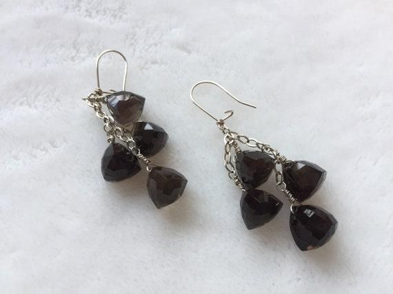 labradorite boho,gypsy jewelry Rainbow moonstone,rose quartz chandelier earrings teardrop brass earrings