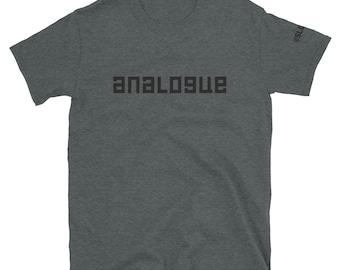 Analogue Short-Sleeve Unisex T-Shirt - band shirts analog audio sound design guitars synth