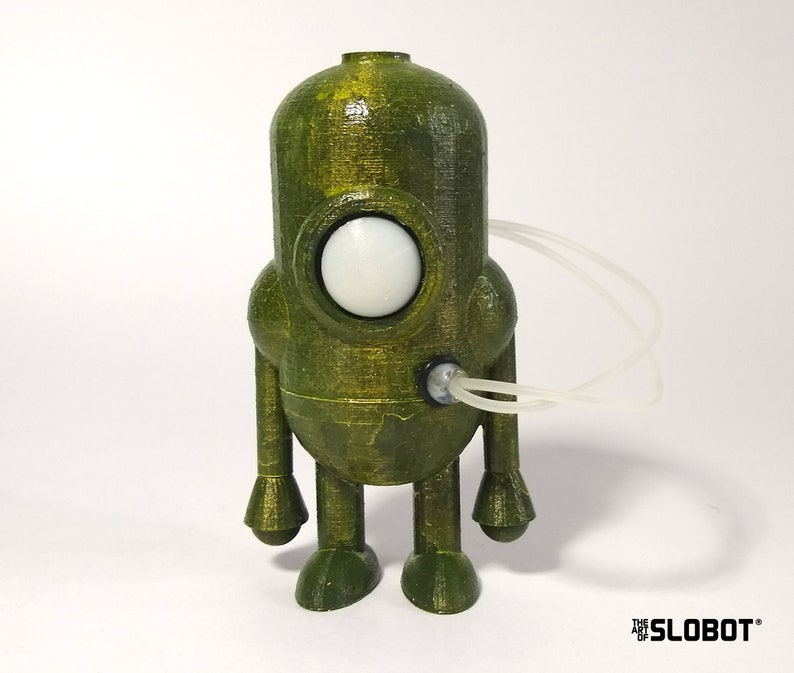 Robot Art Sculpture by Mike Slobot Carl 5 mk3  GREEN image 0