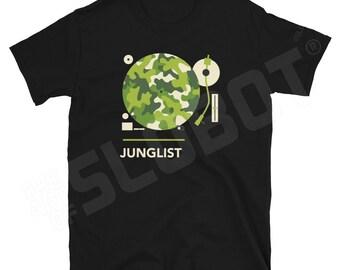 Junglist Short-Sleeve Unisex T-Shirt - DJ Drum and Bass Electro EDM Electronica Jungle Jump Up