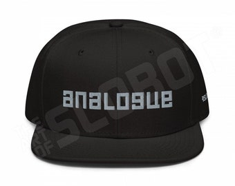 Analogue BLACK Snapback Hat synth sound design vinyl records audio equipment