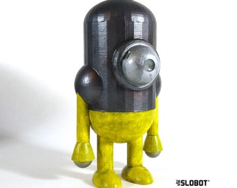 Mike Slobot Robot Art Sculpture 5.5 Inch Fusion Core Retro Robot inspired by Fallout 3 4 76 Art