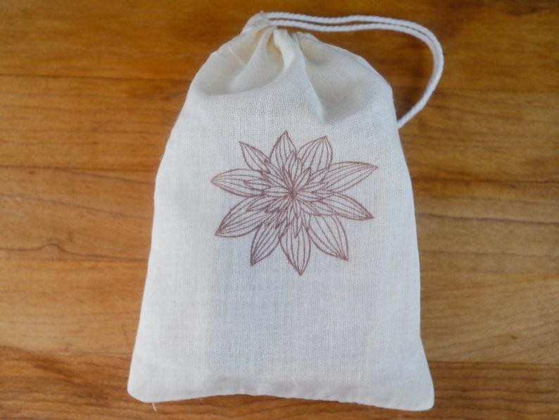 e0014e35dc Flower Muslin Bag-Pair of 4x6 muslin bags rustic gift bag for | Etsy