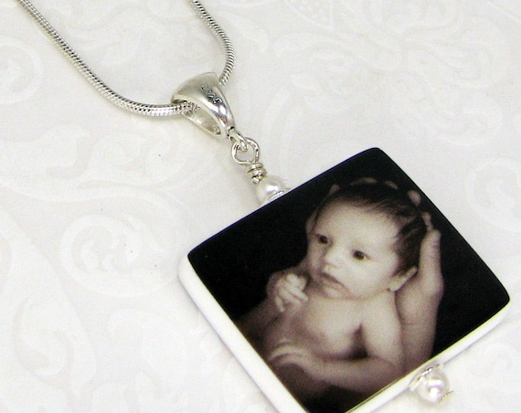 Photo Charm Necklace - Custom Photo Pendant