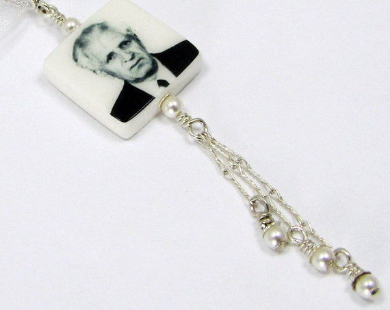 Wedding Photo Charm for the bride's Bouquet - XSM - BC5a