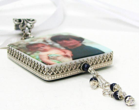 Wedding Memorial Photo Charm for Your Bridal Bouquet