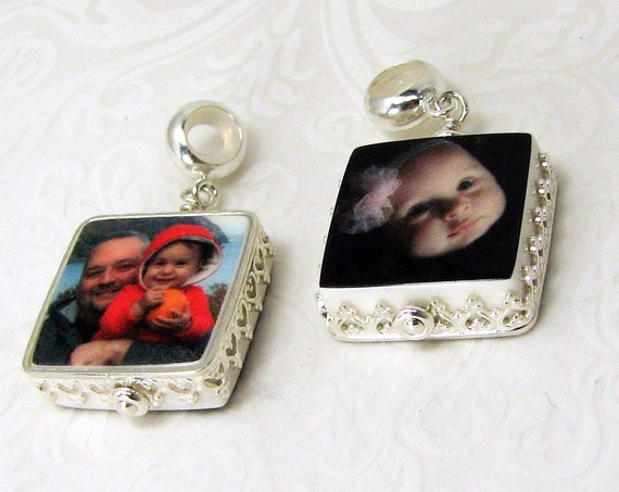 Sterling Framed Photo Charm Jewelry - XSM