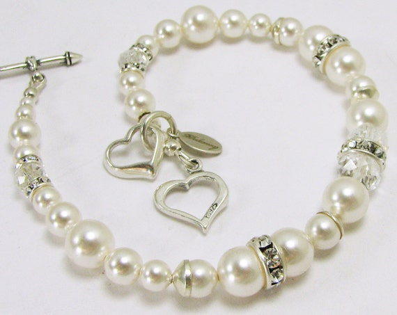 Brides Bracelets with a Sterling Heart Charm - SCPBx3