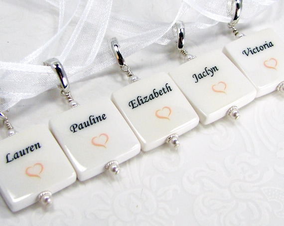 5 Bridal Bouquet Photo Charms,  XSM - BC5x5