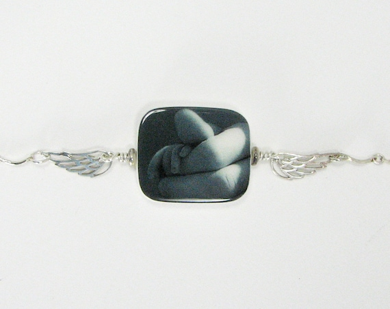Angel Wings to Hold this Precious Photo Charm - In Loving Memory Bracelet