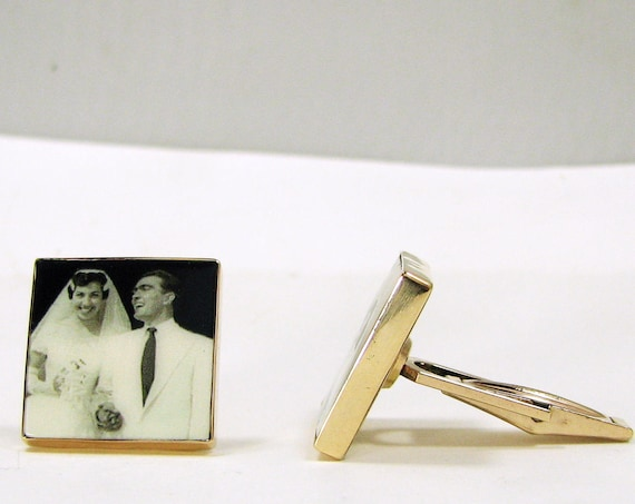 14K Gold-Filled Photo Cuff Links
