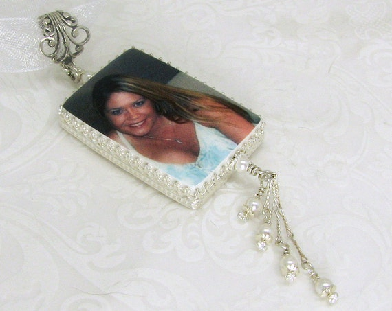 Wedding Photo Memory Charm for Your Bouquet - FBC1Cfa