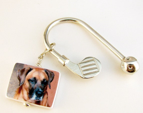 Custom Photo Charm on a Golf Club Key Holder - Medium