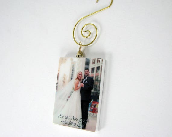 Custom Photo Ornament - Gold Edition Holiday Keepsake- Small