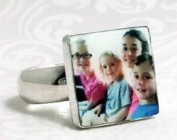 OOAK Custom Photo Tile Ring