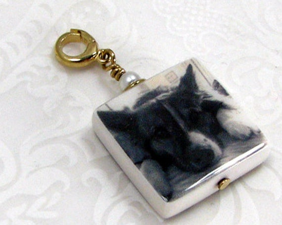 A Photo Pendant with a 14K Gold Spring Clasp Bail  - Small - P3F-G