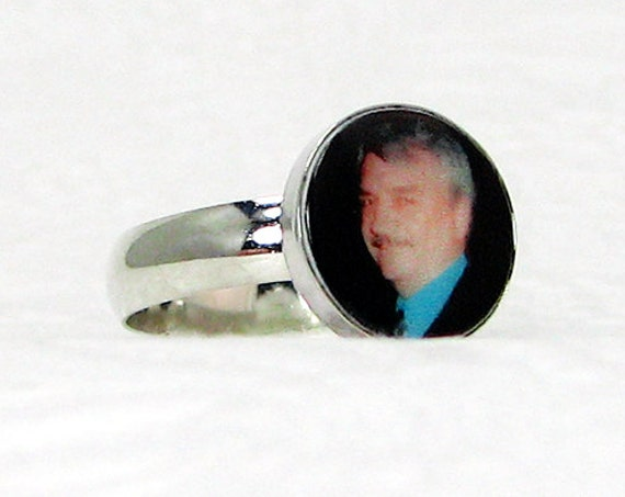 Sterling Silver Photo Ring - C3Ri