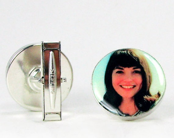 Silver Photo Memorial Cuff Links - A great wedding gift