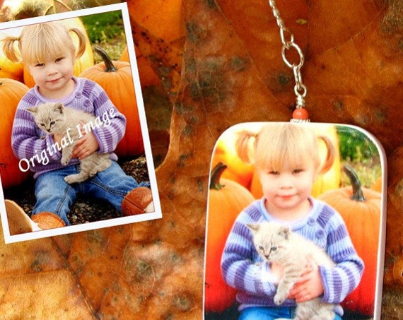 Custom Photo Ornament - Personalized Christmas Tree Decoration - Small - O3Rec-a