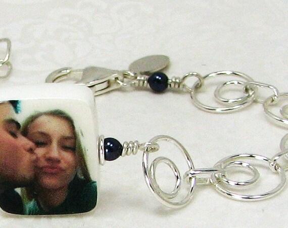 Charm Bracelet with a Photo Charm - XSM - C5RB5